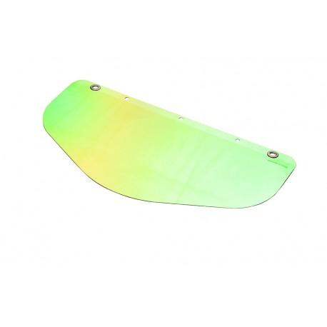 Gesichtsschutz (PC), grün+goldbedampft - 500 x 250 mm